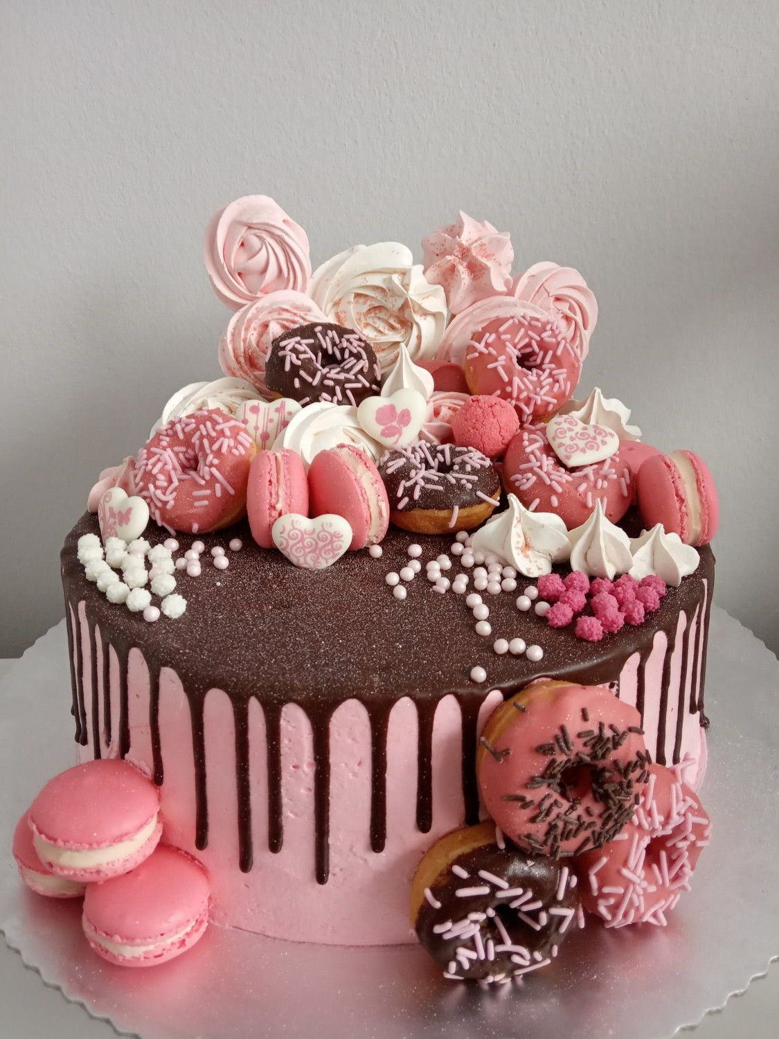 Pink Chocolate Cake By Lanaland With Images Chocolate Cake