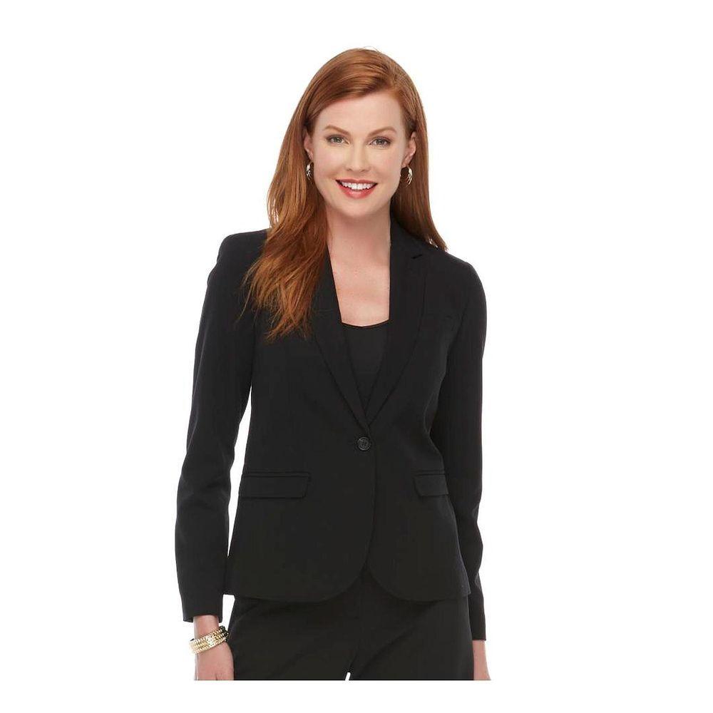 Metaphor Jacket  Modern Blazer black solid lined Women's size 12 NEW   19.99 http://www.ebay.com/itm/-/261850639790?