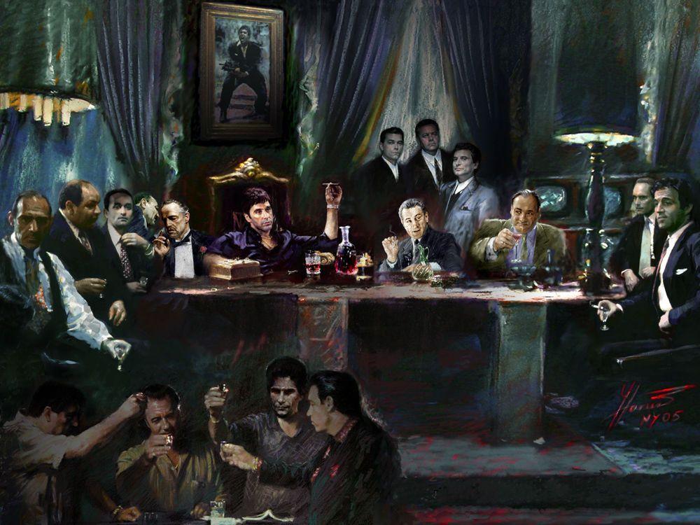 SCARFACE GODFATHER GOODFELLAS,SOPRANOS,Al Pacino,Deniro,Brando,Last ...