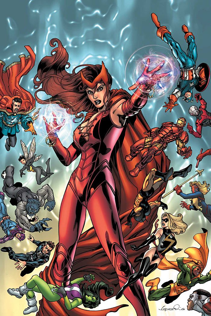 Scarlet Witch Wanda Maximoff The Avengers Art By Aaron Lopresti Scarlet Witch Comic Scarlet Witch Costume Scarlet Witch Marvel