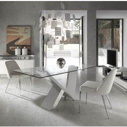 Mesa Comedor Cristal Moderna CT998 de Angel Cerdá. Muebles modernos ...
