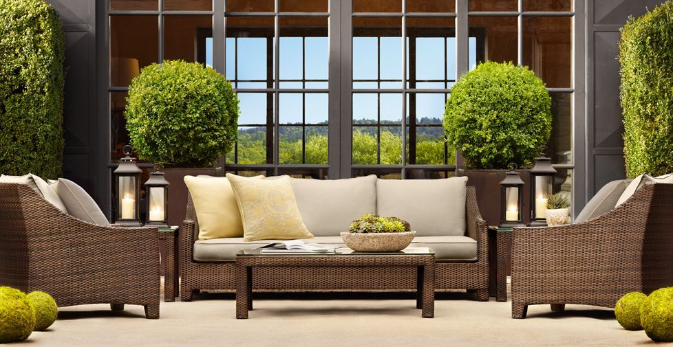 Restoration Hardware Patio Furniture, Darker Or Patterned Cushions Needed