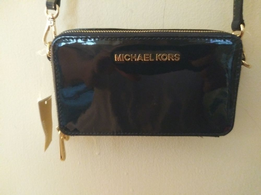 e2a3ce2ac16f =GORGEOUS= NEW W/TAGS MICHAEL KORS PURSE BAG CLUTCH CROSSBODY WALLET NAVY  CLASSY #fashion #clothing #shoes #accessories #womensbagshandbags ...