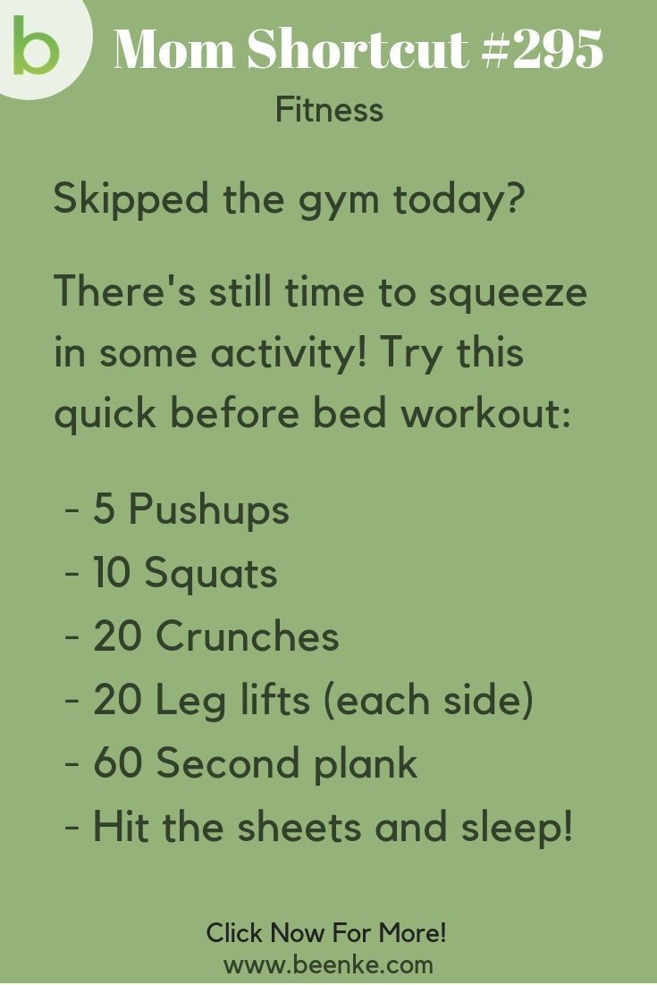 Fitness Hacks #295: A quick before bed workout for days you can't make it to the gym!  Fitness tips...