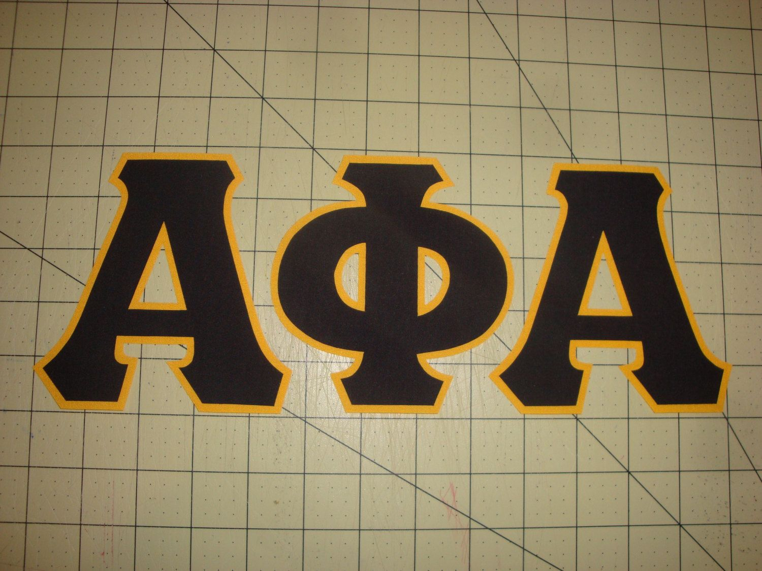 Alpha phi alpha no sew 5 inch greek fraternity iron on for Sorority sewn on letters