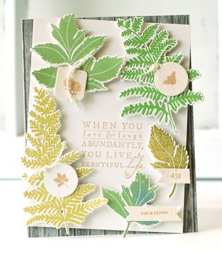 Greenery Sampler Card by Betsy Veldman for Papertrey Ink (July 2013)