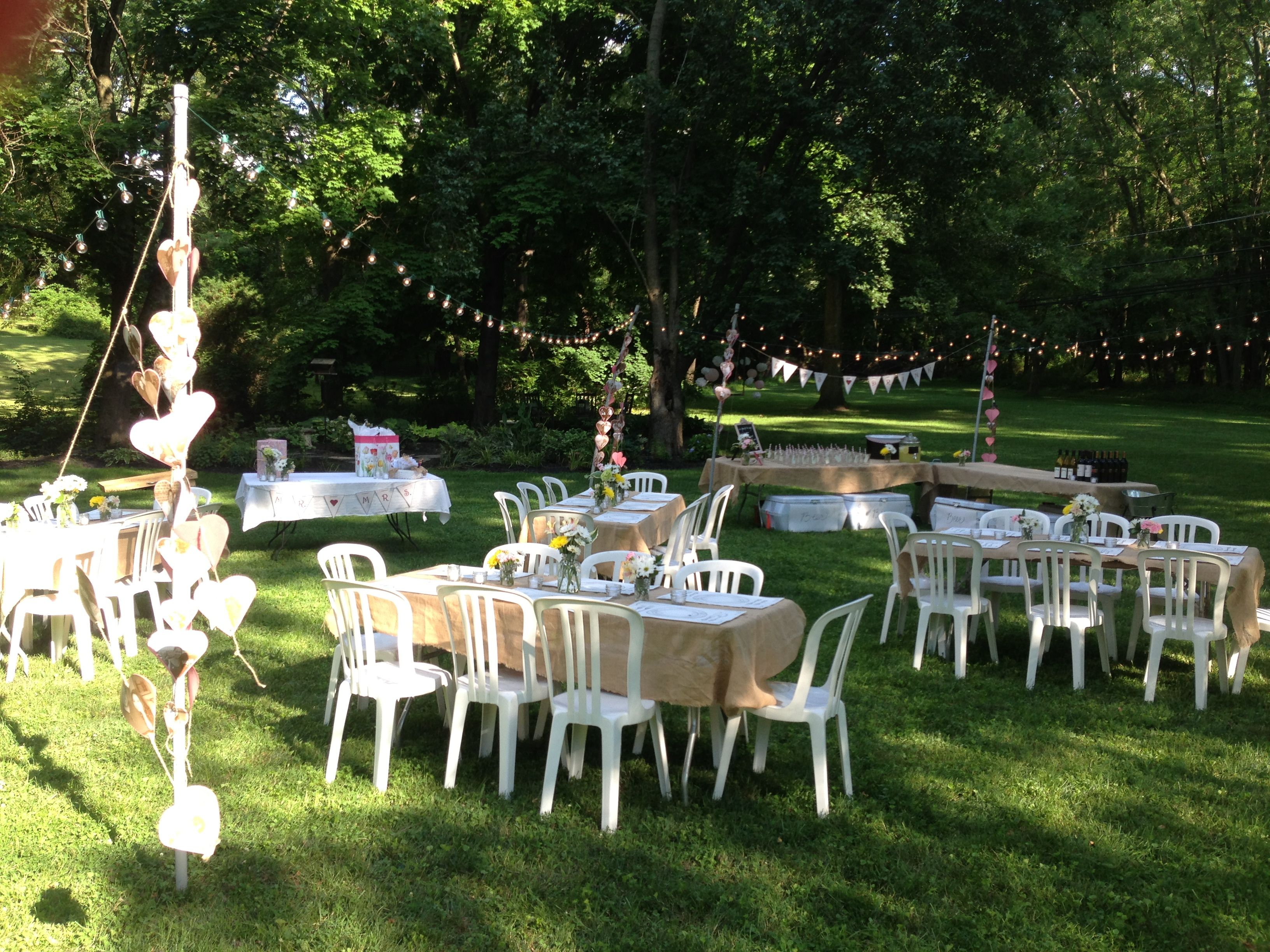 Light tent for backyard wedding shower (With images ...