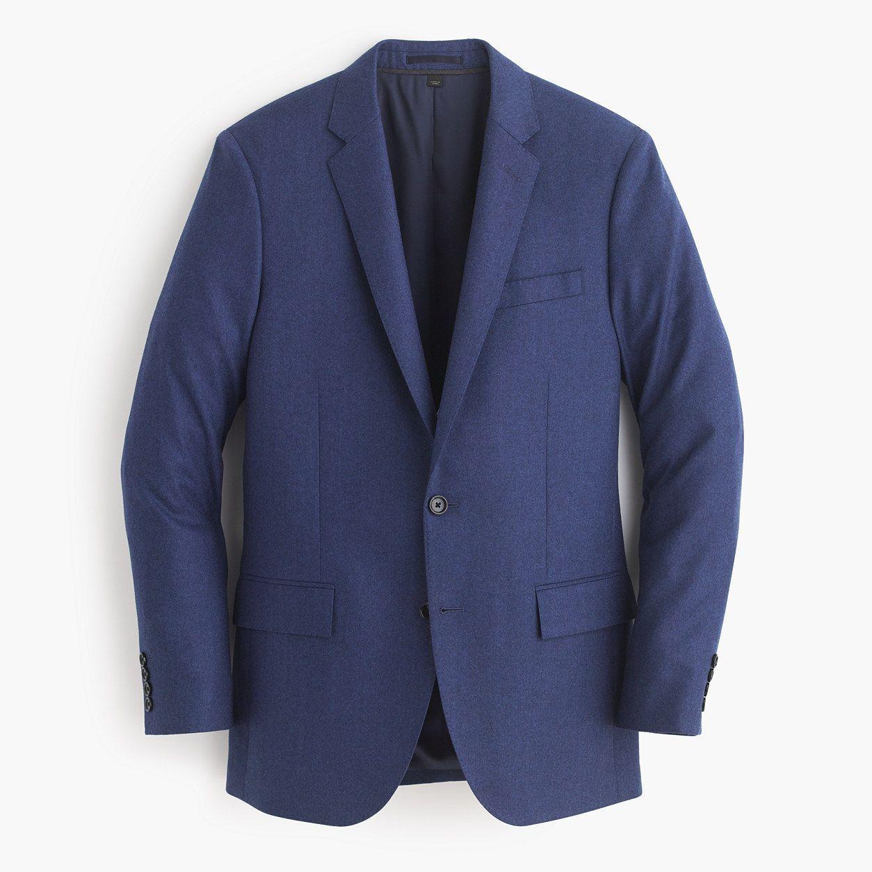 Wool cashmere flannel jacket  JCrew Mens Ludlow Suit Jacket In Heathered Italian Wool Flannel