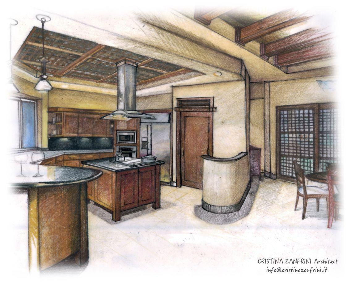 Kitchen wood contemporary spaces interior design
