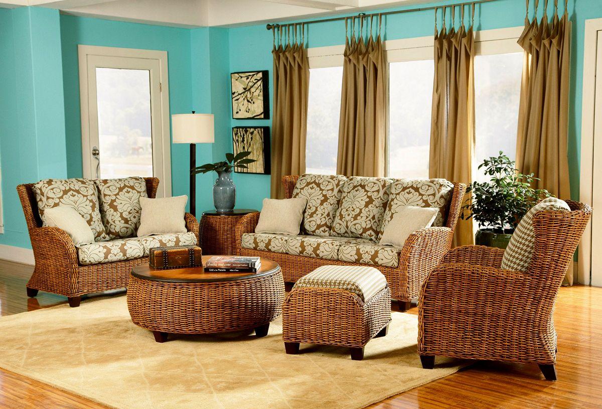 Best Clarissa Rattan 5 Piece Living Room Set By Designer Wicker 400 x 300