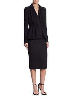 Carolina Herrera - Tweed Peplum Jacket