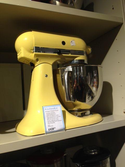 Kitchen Aid mixer in Custard