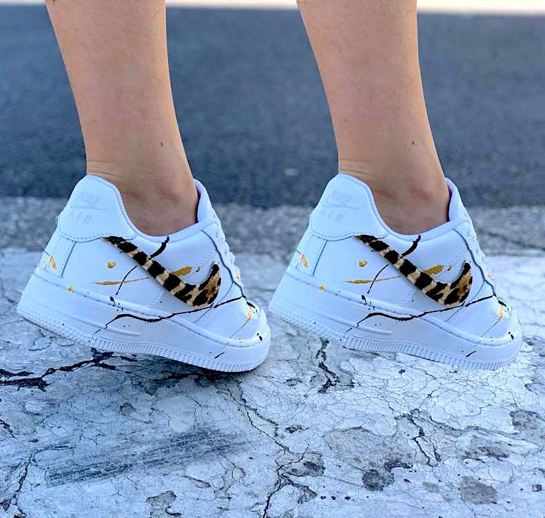 air force 1 donna baffo oro