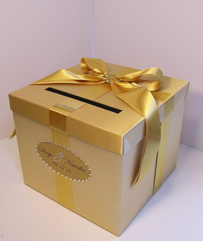 Wedding/Quinceañera/Sweet 16 Card Box Gold Gift Card Box