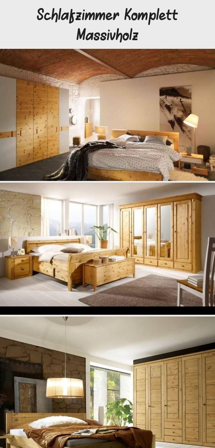 Schlafzimmer Komplett Massivholz in 2020 Bett ideen