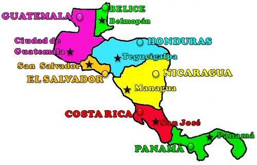 Paises Y Capitales De America Central Con Imagenes America Central