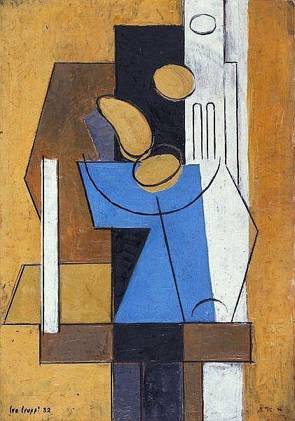 - Leo Leuppi 1893-1972 Öl auf Papier auf Holz
