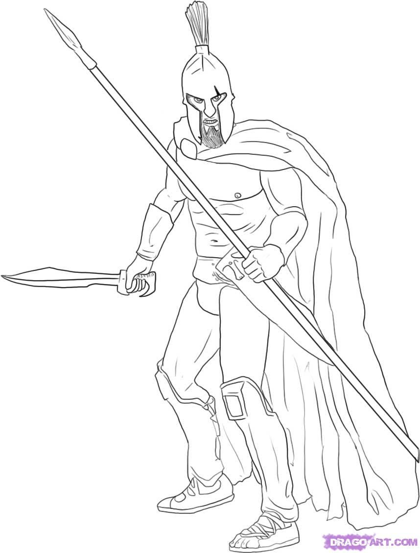 How To Draw A Warrior Step By Figures Peopknmle Free Online Romans