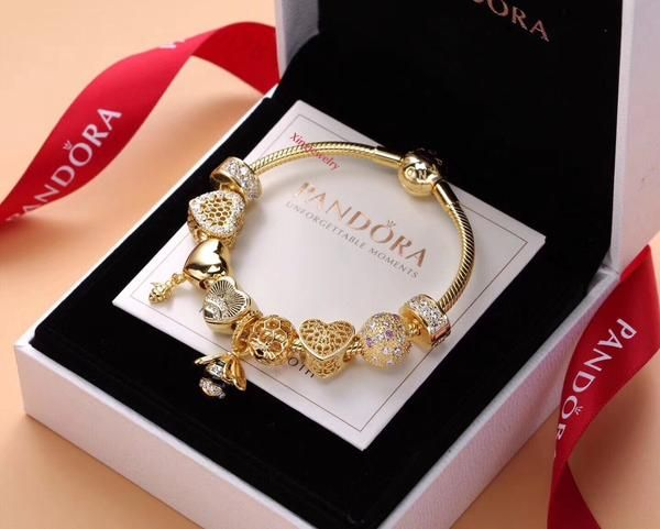 2101359c2 New pandora gold honey bee love spring charm bracelet Pure 925 sterling  silver with gold plating Avaiable size :15-22 cm ,pls note us your fit size  in ...