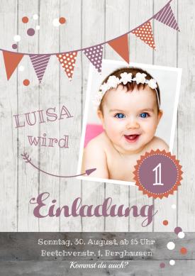 Dusky Pink Orange 1 1 Geburtstag Einladungskarten Pinterest