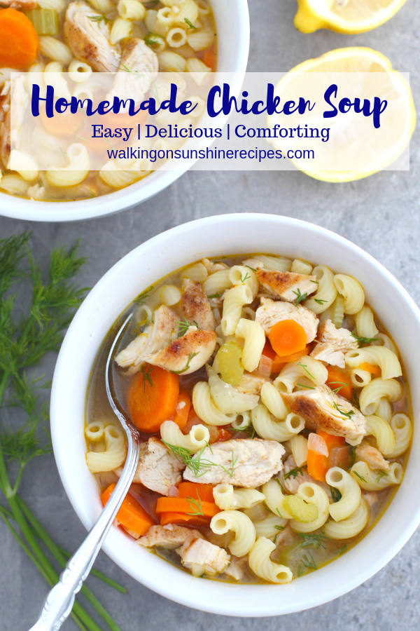Easy And Delicious Comforting Chicken Soup Recipe Food Soup