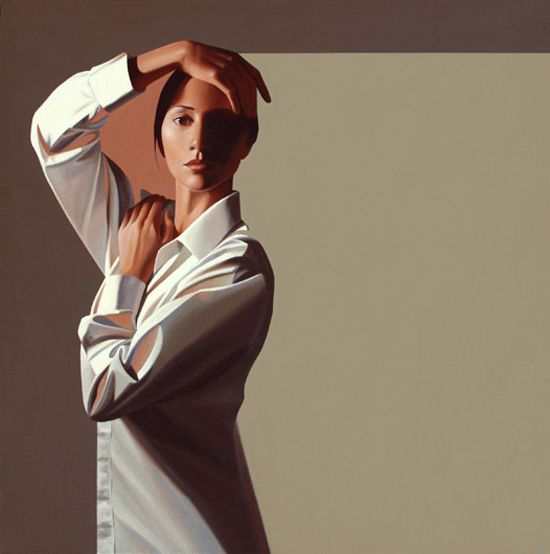 Realismo figurativo, pinturas de Erin Cone