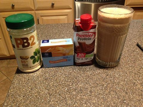 to whoever posted about the Butterfinger Shake idea! It was so good! 4 SP for the whole thing! 2 TBSP PBFit, 1TBSP Butterscotch SF pudding mix, 1 chocolate premier protein shake, ice. Blend and enjoy the deliciousness.