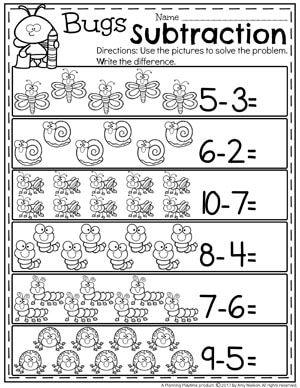subtraction worksheets for my girls pinterest escuela actividades de matematicas and. Black Bedroom Furniture Sets. Home Design Ideas