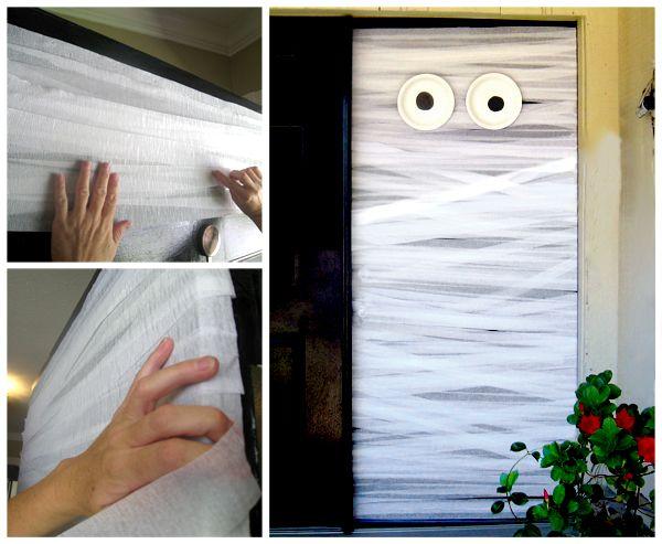 Welcome Your Ghouls With Diy Halloween Door Decorations Halloween Door Decorations Halloween Door Halloween Diy Door