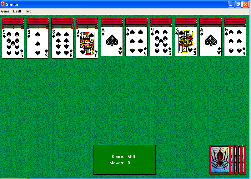 Free spider solitaire download.