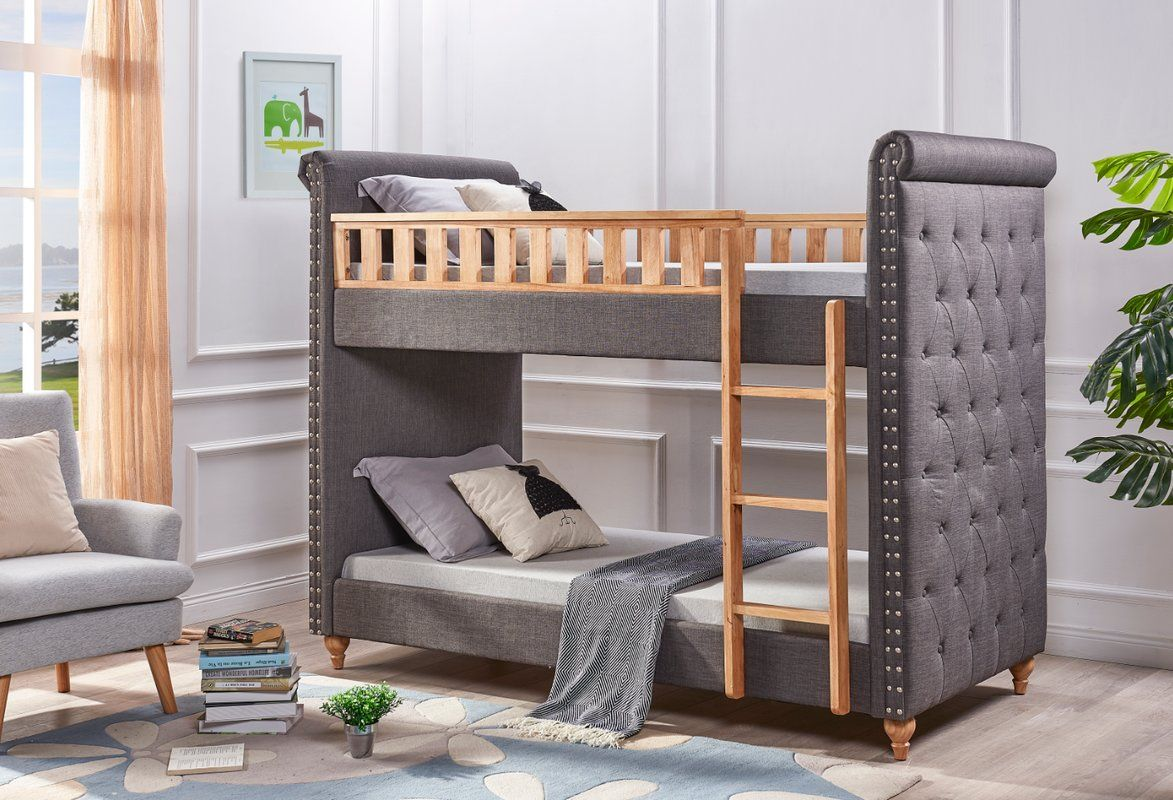 Isaiah Single Upholstered Bunk Bed Bunk Beds Single Bunk Bed