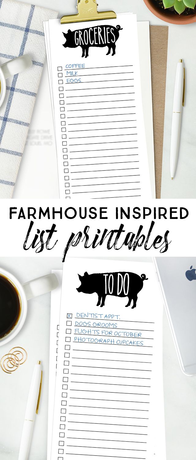 sometimes lists are my only saving grace! this farmhouse printable