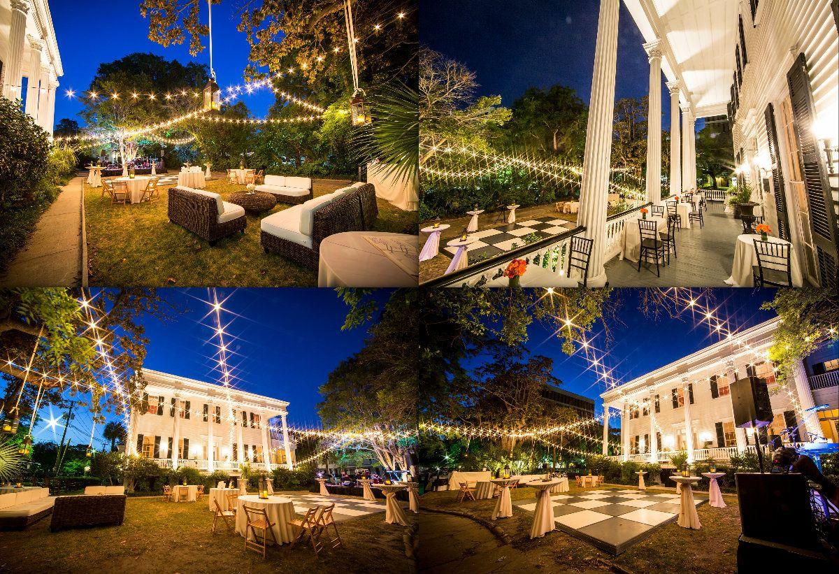 Venue Wickliffe House Charleston Sc Wedding Lights Destination Photography Wickliffe