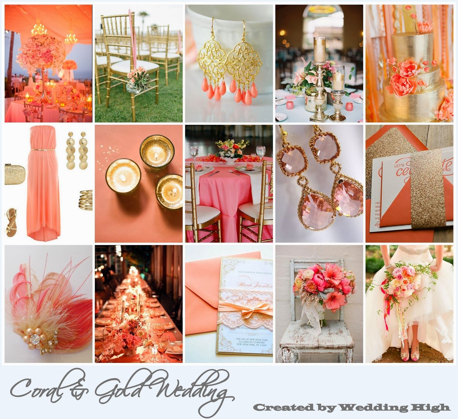 Romantic Coral Gold Wedding Inspiration Wedding High Pinterest