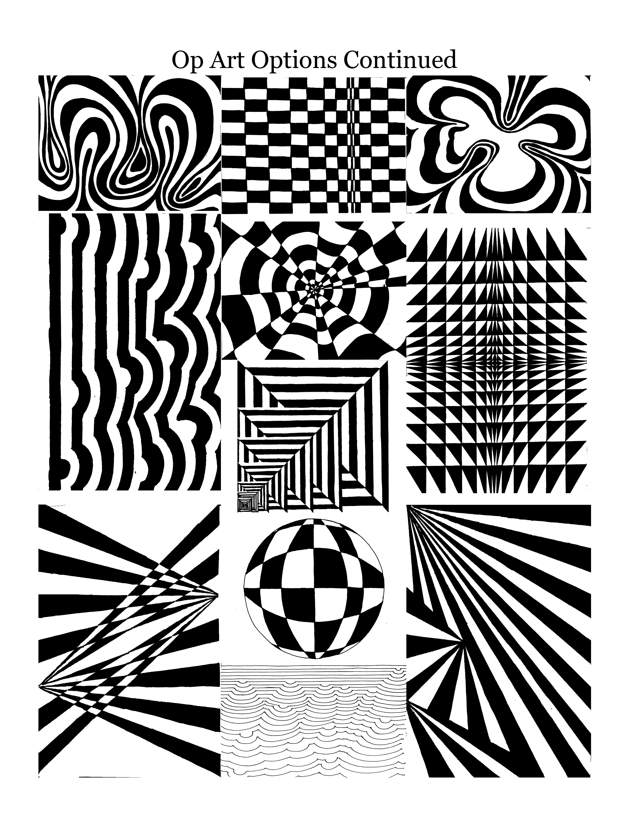 Optical Illusions Art! Art 8 - Art in Room A124 | Op art ...