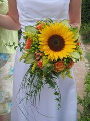 Brautstrauss Mnit Italienischen Sonnenblumen Hochzeit Pinterest