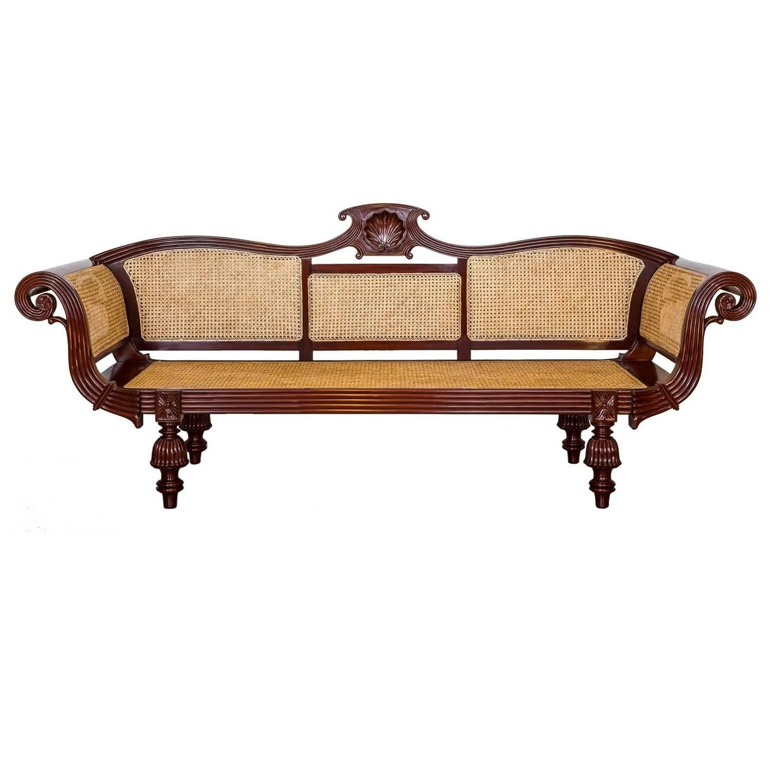 anglo indian or british colonial mahogany sofa furniture indian and british. Black Bedroom Furniture Sets. Home Design Ideas