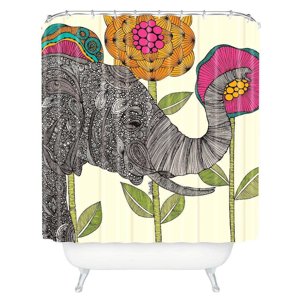 Aaron Elephant Shower Curtain Dark Heather Deny Designs