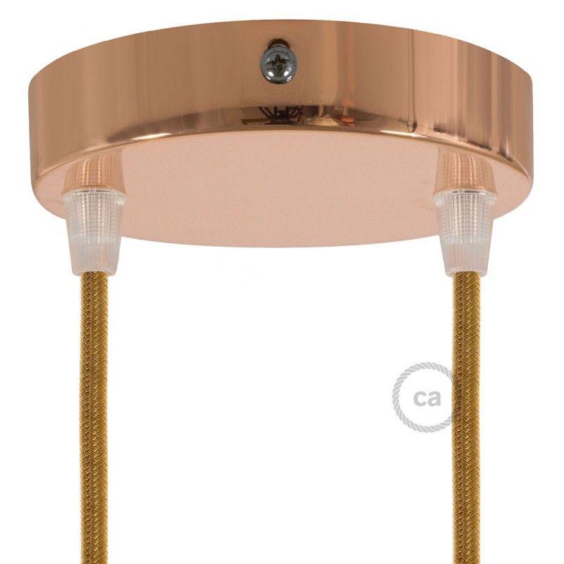Strak Design Metalen Plafondkap Geschikt Voor 2 Lampen Koper Lampen Metaal Koper