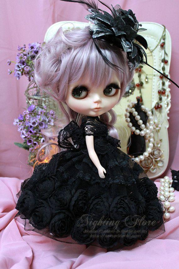 Custom OOAK beautiful Blythe doll reddish Blythe with