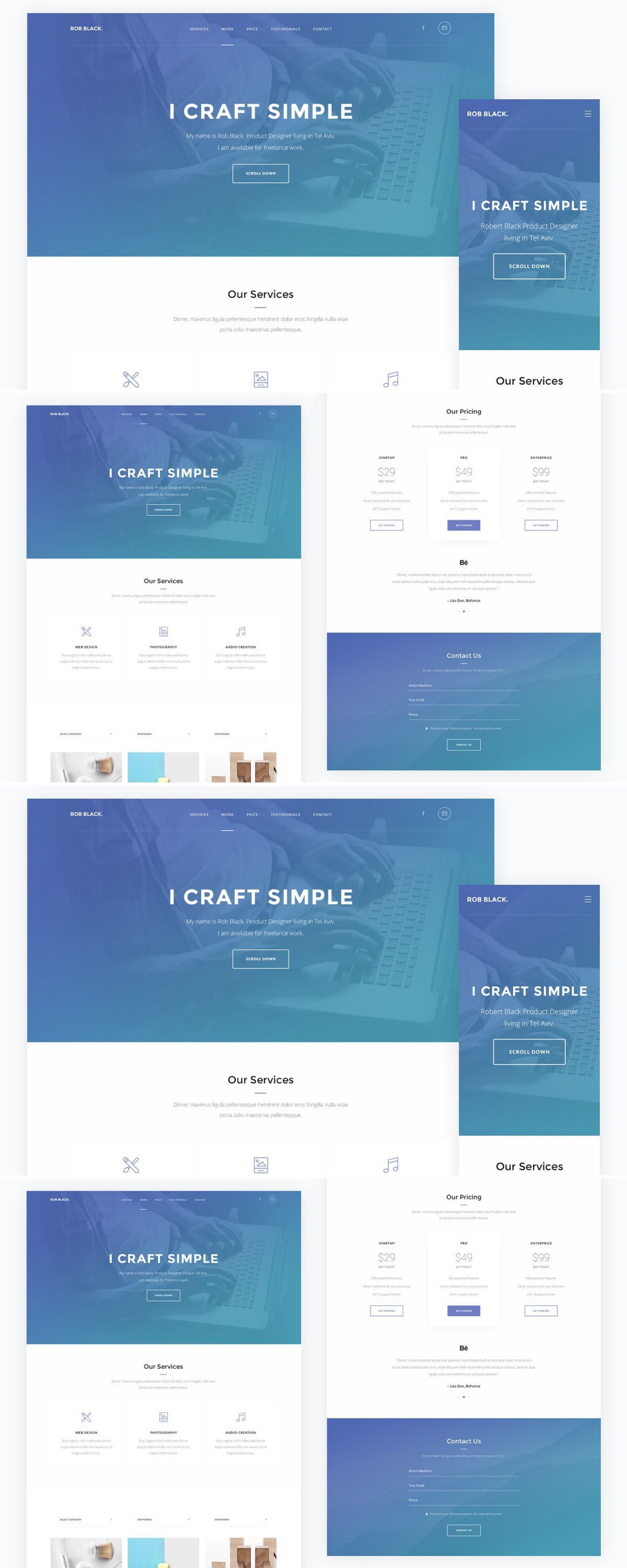 Onepage — Portfolio HTML Template Templates, Html5 css3