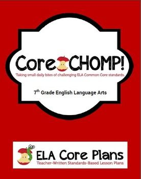 7th grade common core ela bell ringer core chomp school purposethe purpose of core chomp is to provide three questions a day that are based on the common fandeluxe Images