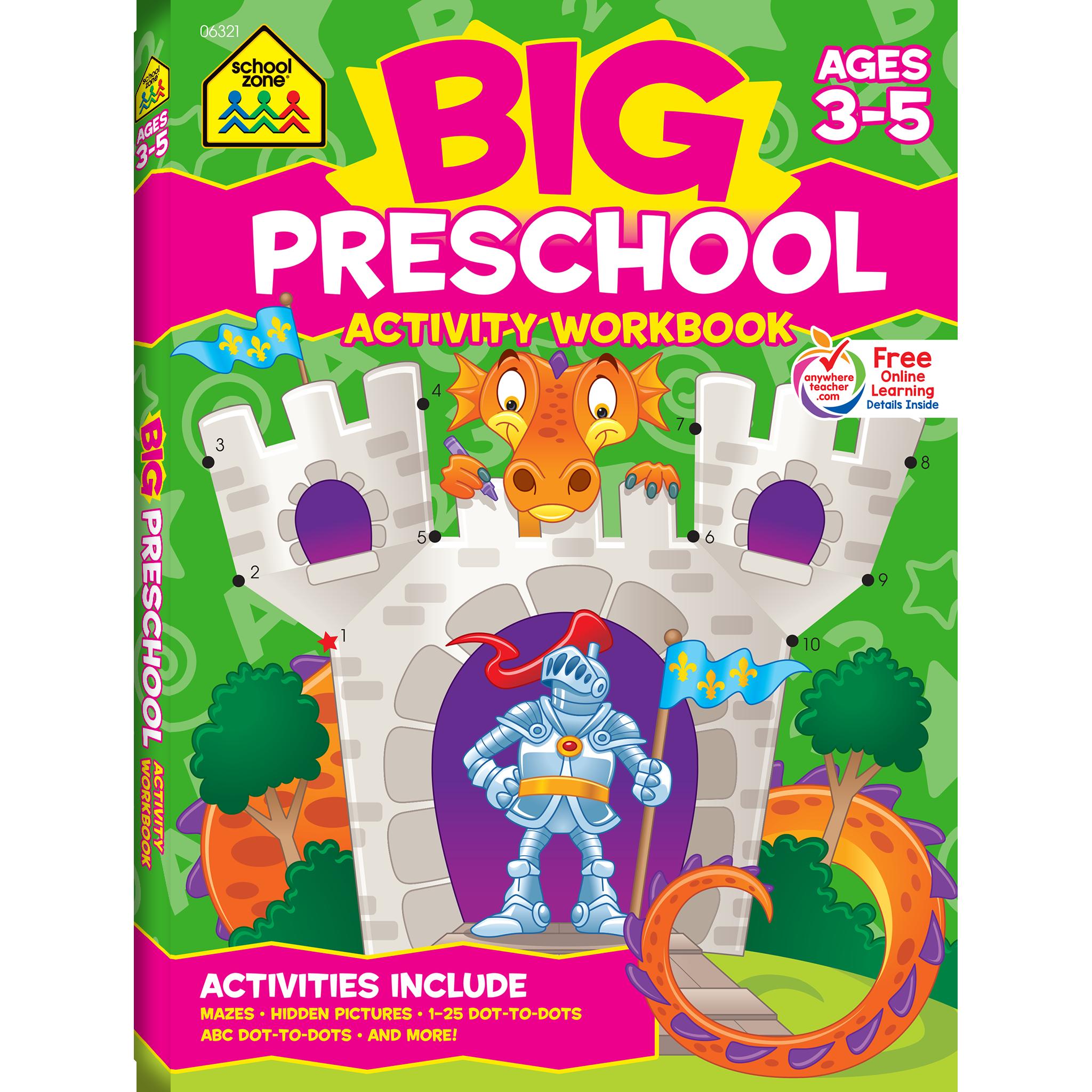 Fun and Games Preschool Workbook Preschool activities