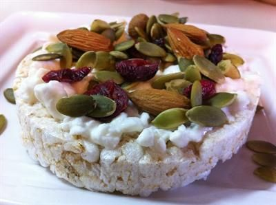 pimp your rice cake 15 creative rice cake toppings cottage cheese rh pinterest ca  savory toppings for cottage cheese