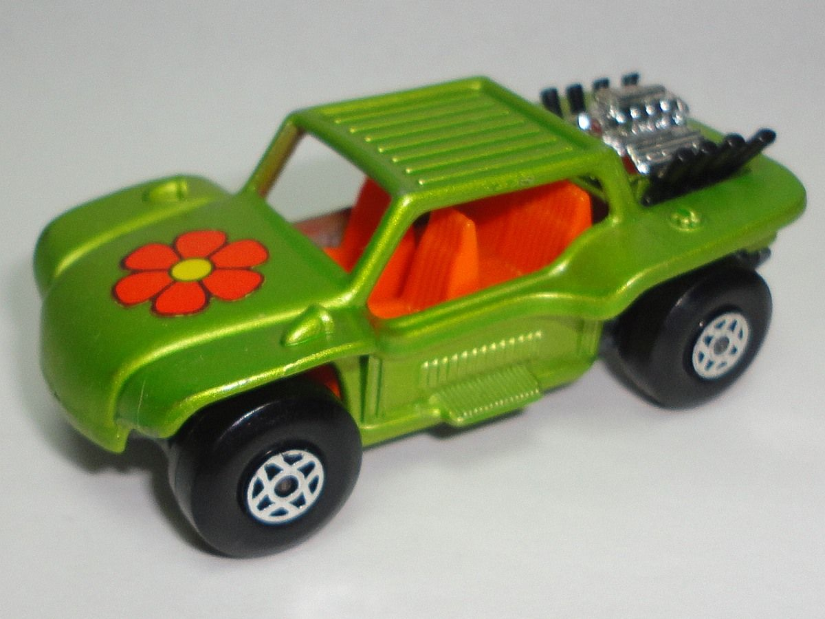 Vintage 1971 Lime Green Baja Buggy Number 13 / Vintage