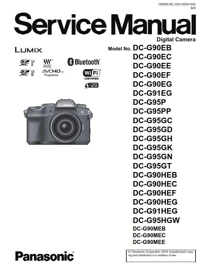 Panasonic Lumix DC-G90 G91 G95 G90H G90M G95M G95K