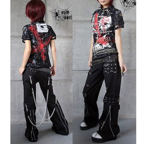 Gothic and Punk Rock Clothing Mens Womens Chain Pants ...