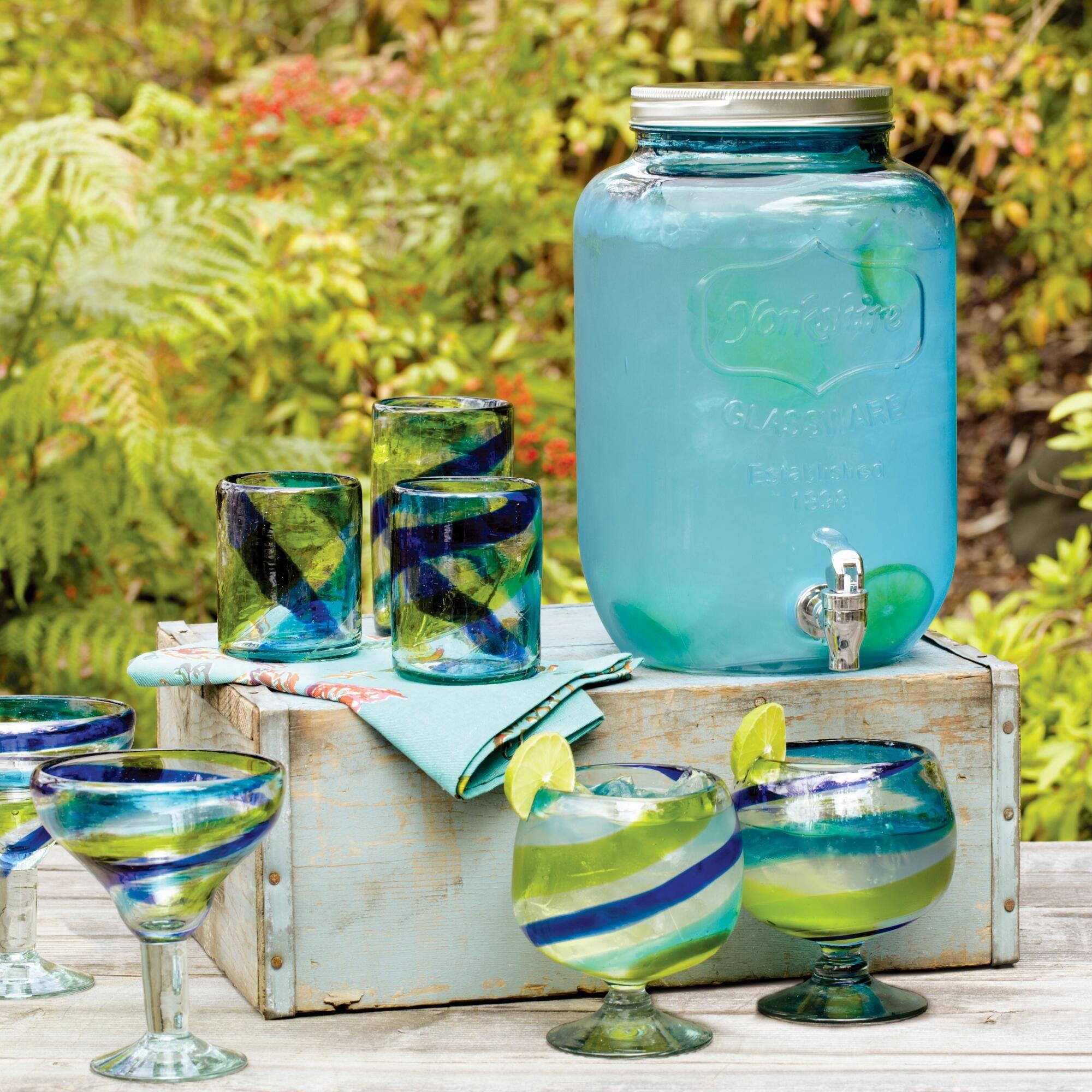 Blue Glass Yorkshire Dispenser World Market Glass