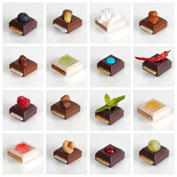 Sweet Play Chocolate Treats By Elsa Lambinet Playful Food Design Ideas