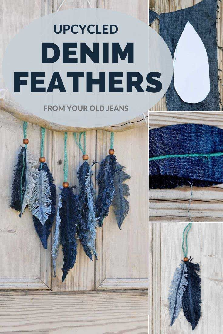 Photo of DIY Denim Feather Wall Decor